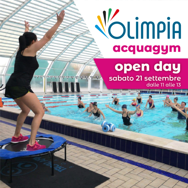 Sabato 21 Settembre  OPEN DAY ACQUAGYM