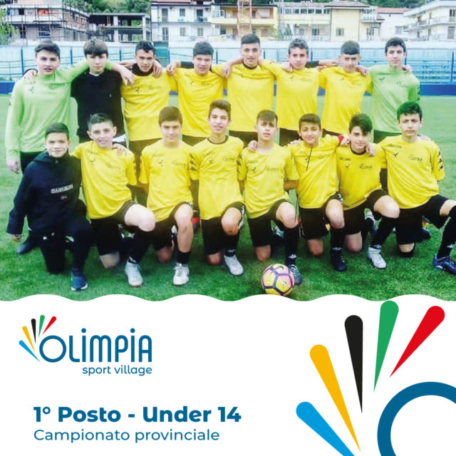 1° Posto nel Campionato Provinciale Under 14