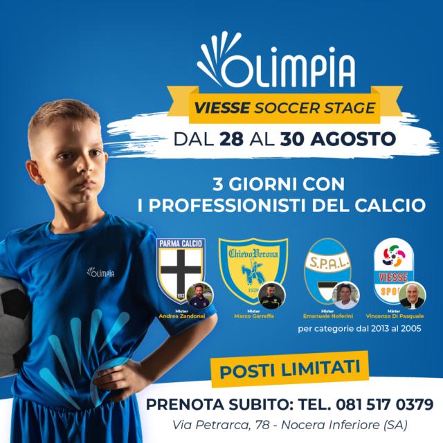 VIESSE Soccer Stage – 3 giorni con i professionisti del calcio