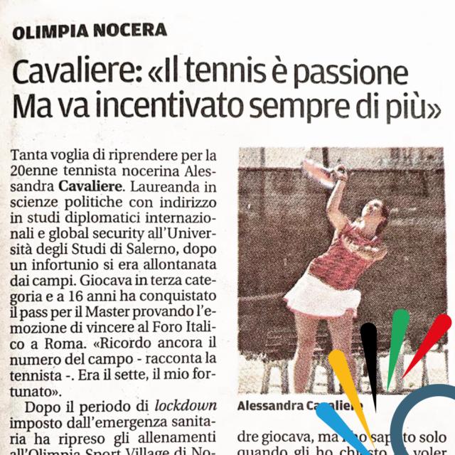 """Cavaliere: """"Il tennis è una passione ma va incentivato sempre di più"""" – La Città di Salerno 13/09/2020"""